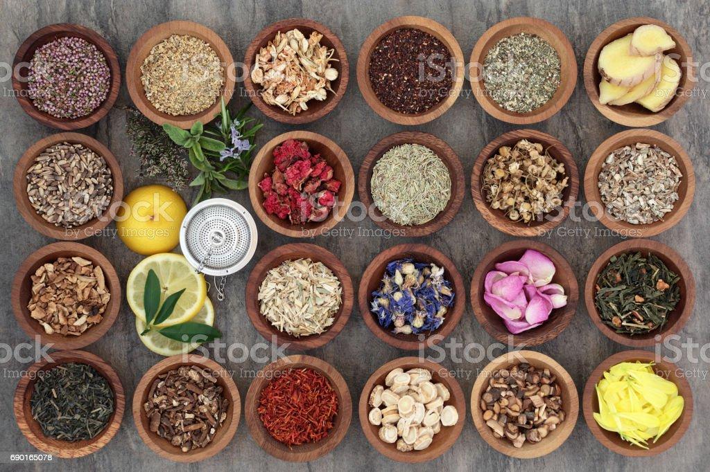 Healthy Herb Teas stock photo