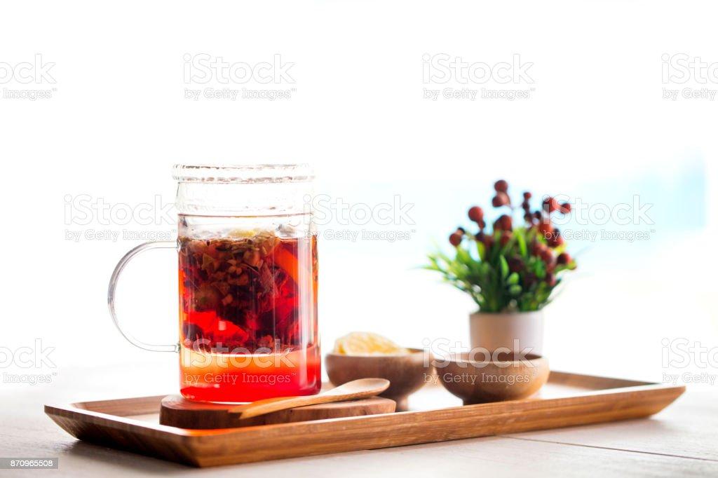 Healthy herbal tea stock photo