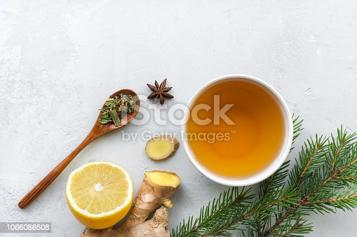 Treat cold and flu. Hot beverage made from lemon, ginger, spices and herbs.