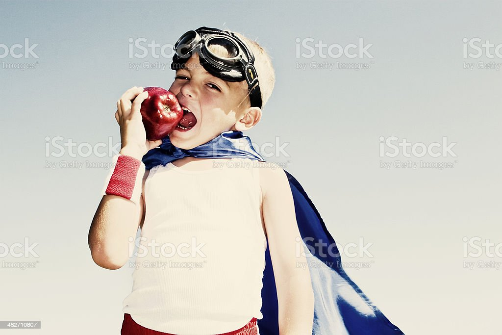Healthy Hero stock photo