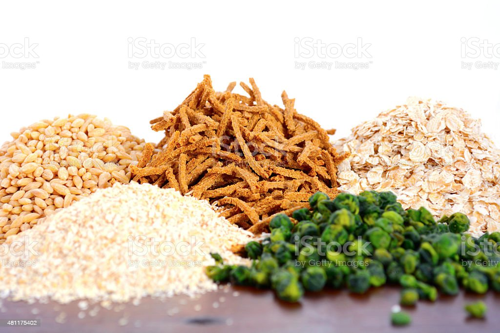Healthy High Fiber Prebiotic Grains stock photo