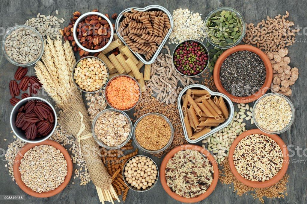 Gesunde ballaststoffreiche Lebensmittel – Foto