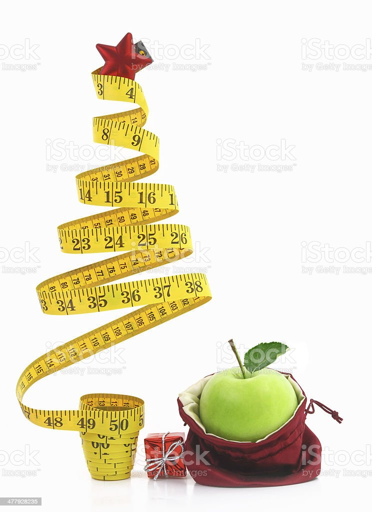Healthy holiday food and diet stock photo