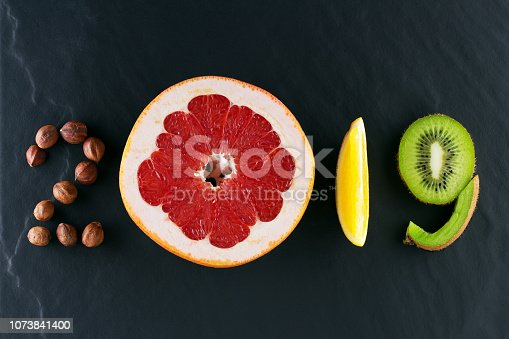 istock Healthy holidays food and diet. New year's 2019 decisions about a healthy lifestyle 1073841400