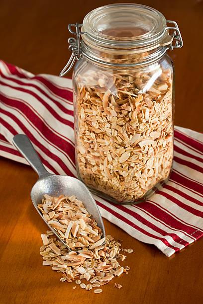 Healthy homemade granola stock photo