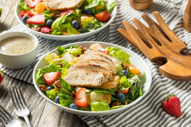 Healthy Homemade Strawberry Poppyseed Salad stock photo