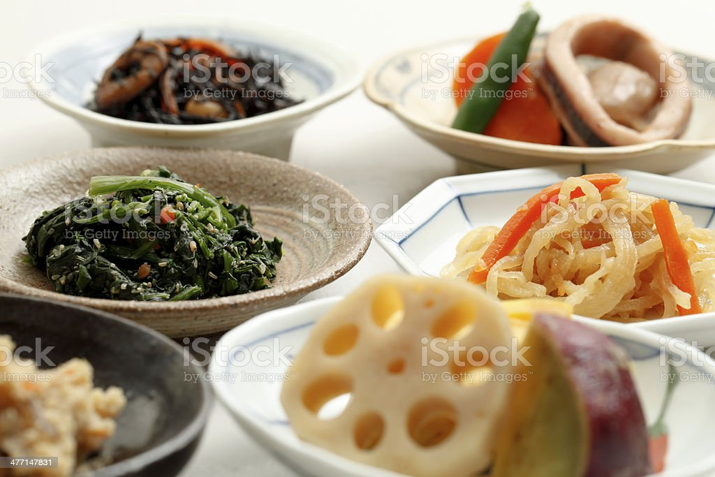 Healthy Japanese cuisine, - Royalty-free Achtergrond - Thema Stockfoto