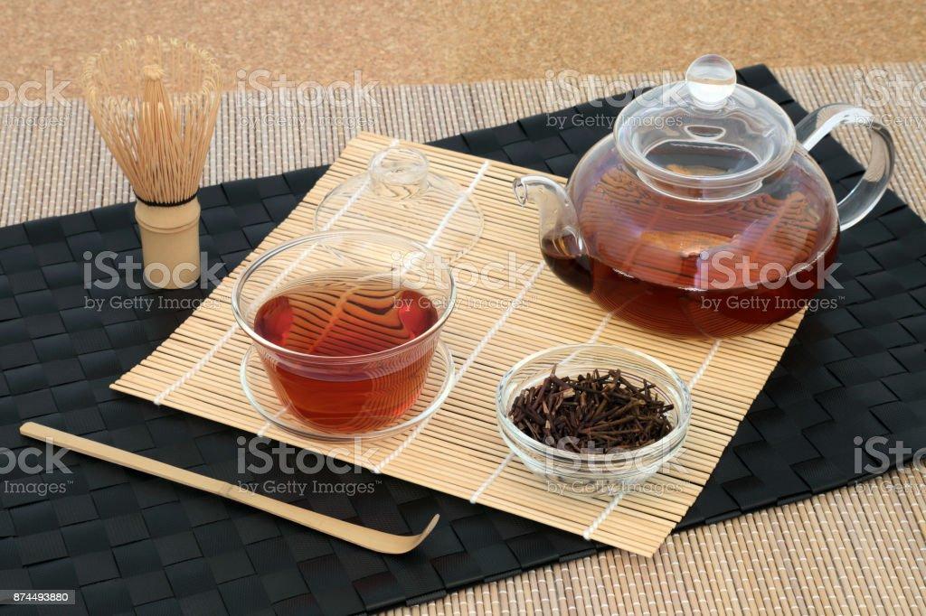 Healthy Japanese Kuchika Twig Tea stock photo