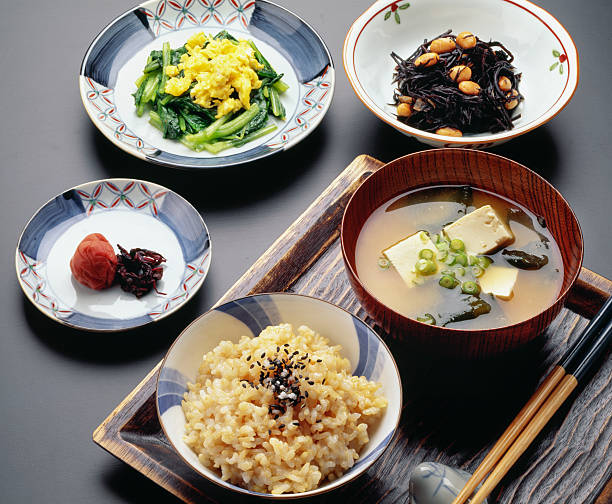 healthy japanese - washoku stockfoto's en -beelden