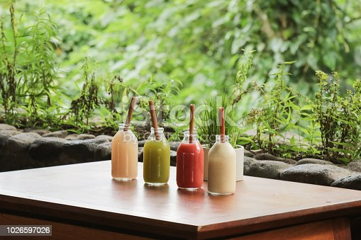 Healthy Juices with Bamboo Straw