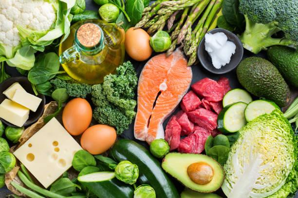 健康生酮低碳水化合物食品均衡飲食 - 清新 個照片及圖片檔
