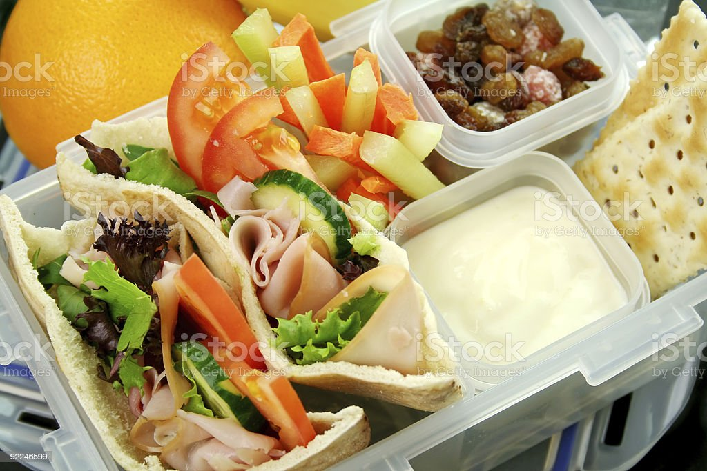 Healthy Kids Lunchbox royalty-free stock photo