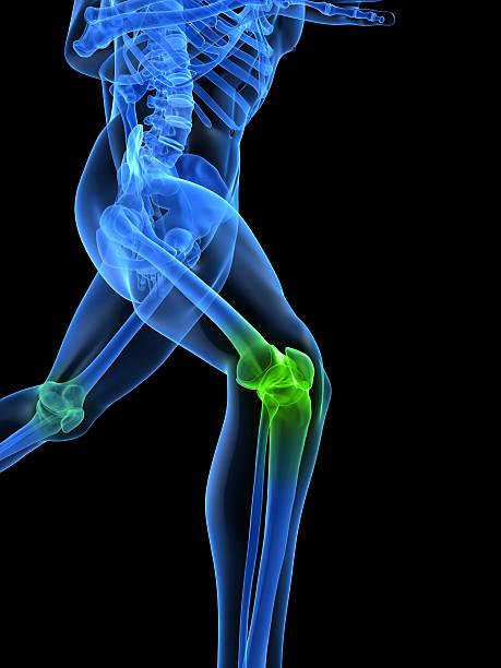 gesunde knie - orthopädisches hilfsmittel stock-fotos und bilder