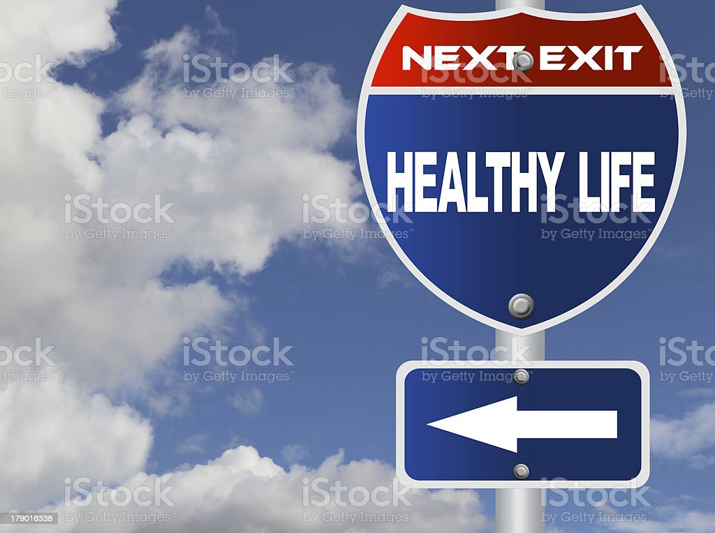 Healthy life road sign royalty-free stock photo