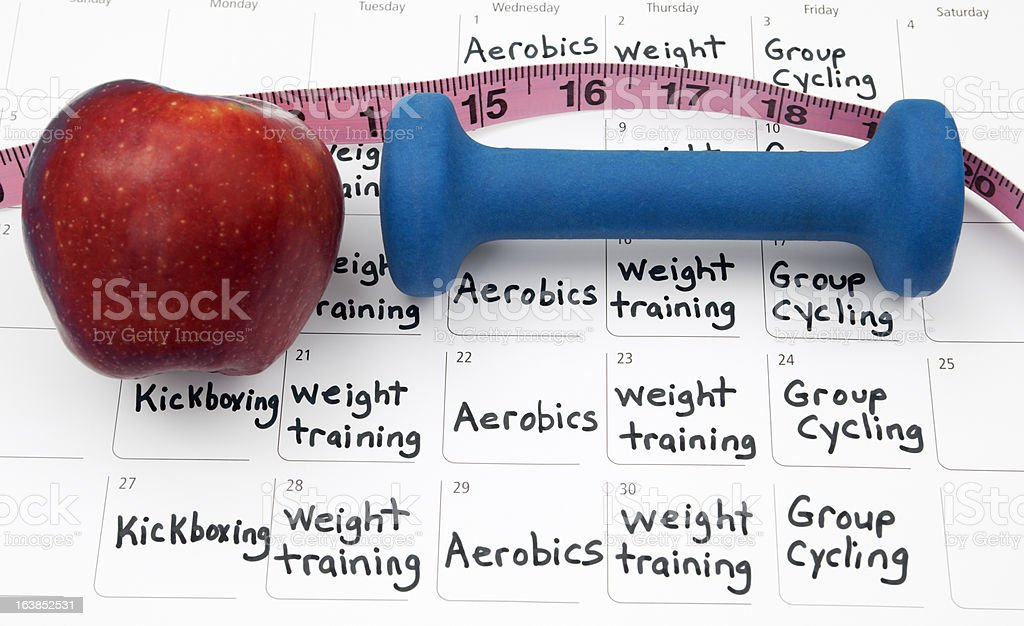 Healthy Lifestyle Calendar royalty-free stock photo