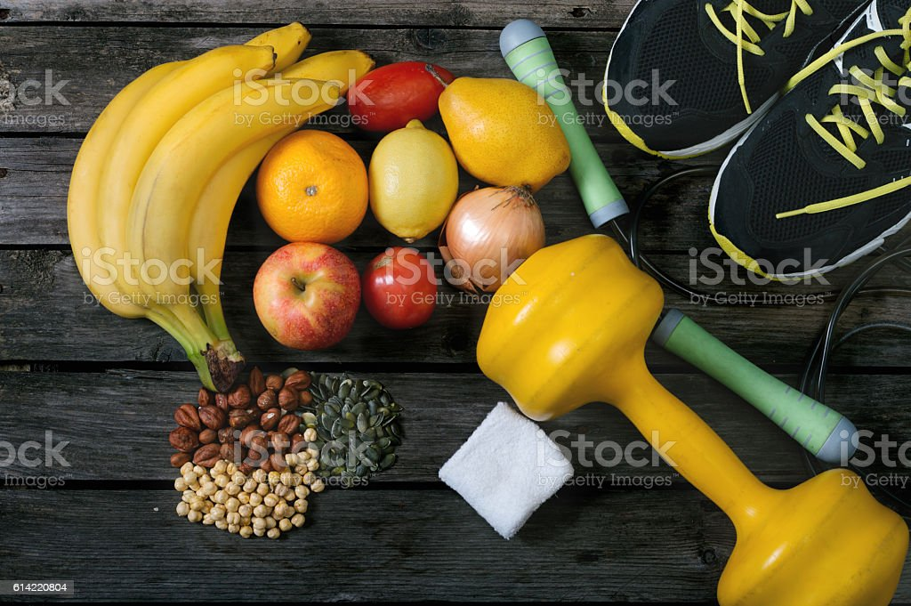 Healthy lifestyle concept. Diet and fitness. stock photo