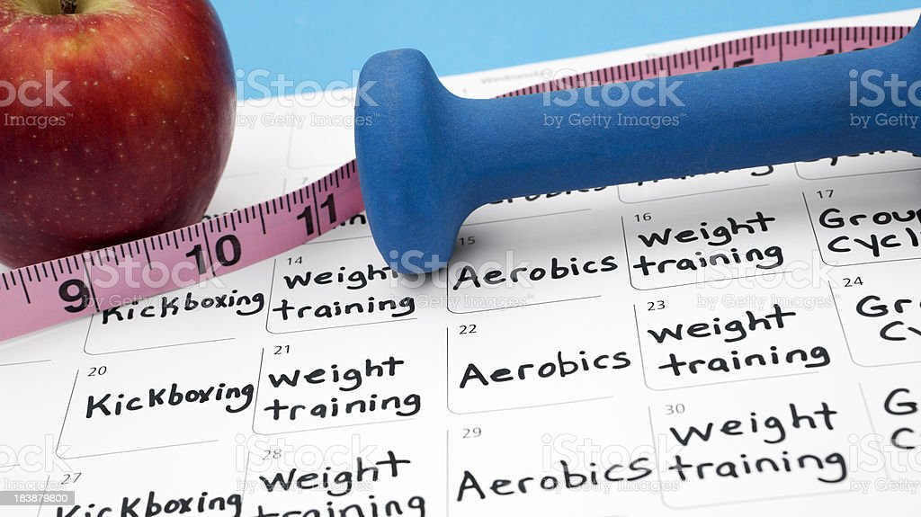 Healthy lifestyle: Diet and Exercise royalty-free stock photo