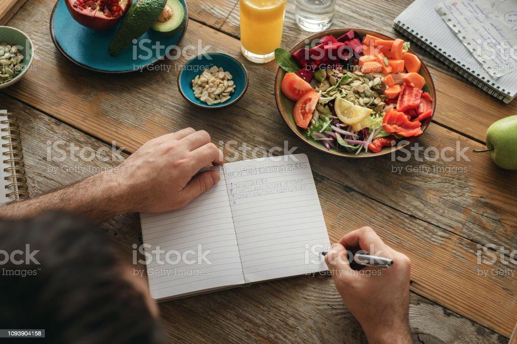 Healthy lifestyle diet food Man healthy food - Стоковые фото Веганство роялти-фри