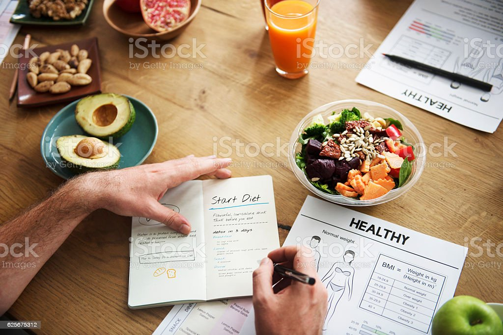 Healthy Lifestyle Diet Nutrition Concept stock photo