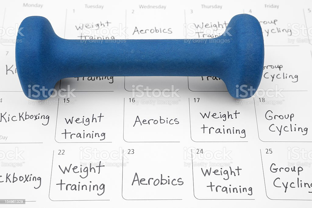 Healthy Lifestyle: Exercise Schedule stock photo