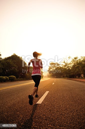 494003079 istock photo healthy lifestyle fitness sports woman  running at driveway 485525065