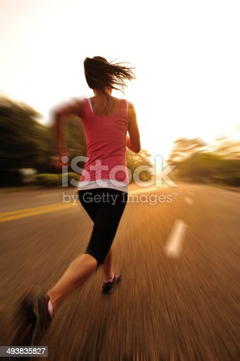 494003079 istock photo healthy lifestyle fitness sports woman running on road 493835827