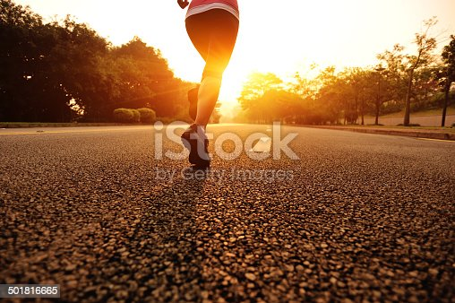 istock healthy lifestyle fitness sports woman running on road 501816665