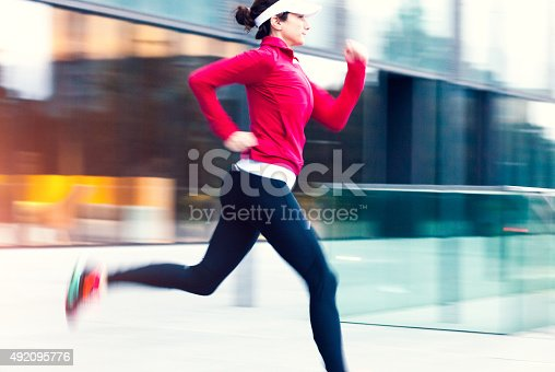 502412594 istock photo Healthy lifestyle fitness sports woman running 492095776