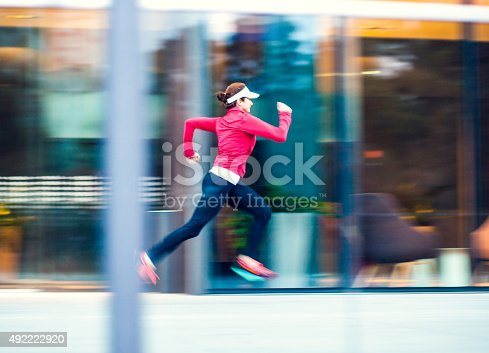 476391546 istock photo Healthy lifestyle fitness sports woman running 492222920