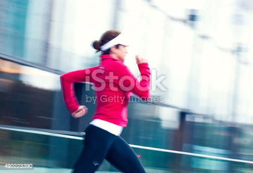 476391546 istock photo Healthy lifestyle fitness sports woman running 492223390