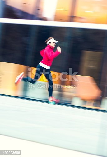 502412594 istock photo Healthy lifestyle fitness sports woman running 492223666