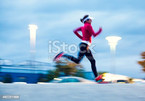 476391546 istock photo Healthy lifestyle fitness sports woman running 492251568