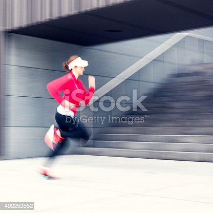 476391546 istock photo Healthy lifestyle fitness sports woman running 492252552