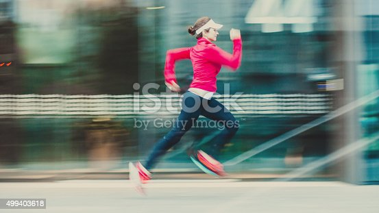476391546 istock photo Healthy lifestyle fitness sports woman running 499403618