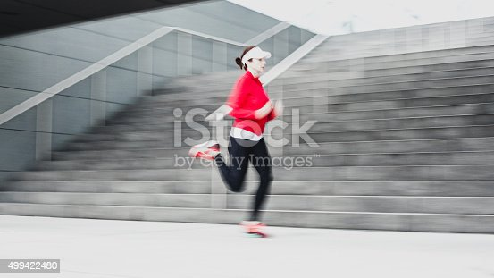 476391546 istock photo Healthy lifestyle fitness sports woman running 499422480