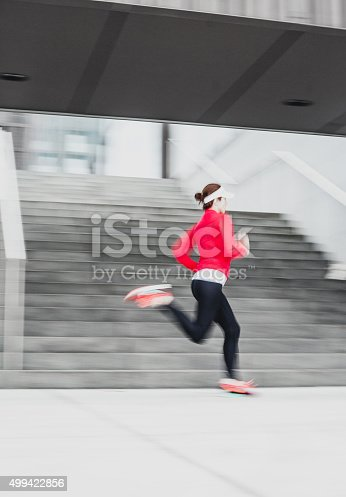 502412594 istock photo Healthy lifestyle fitness sports woman running 499422856