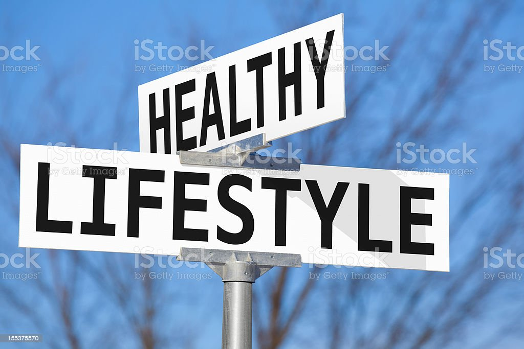 Healthy Lifestyle Street Sign royalty-free stock photo