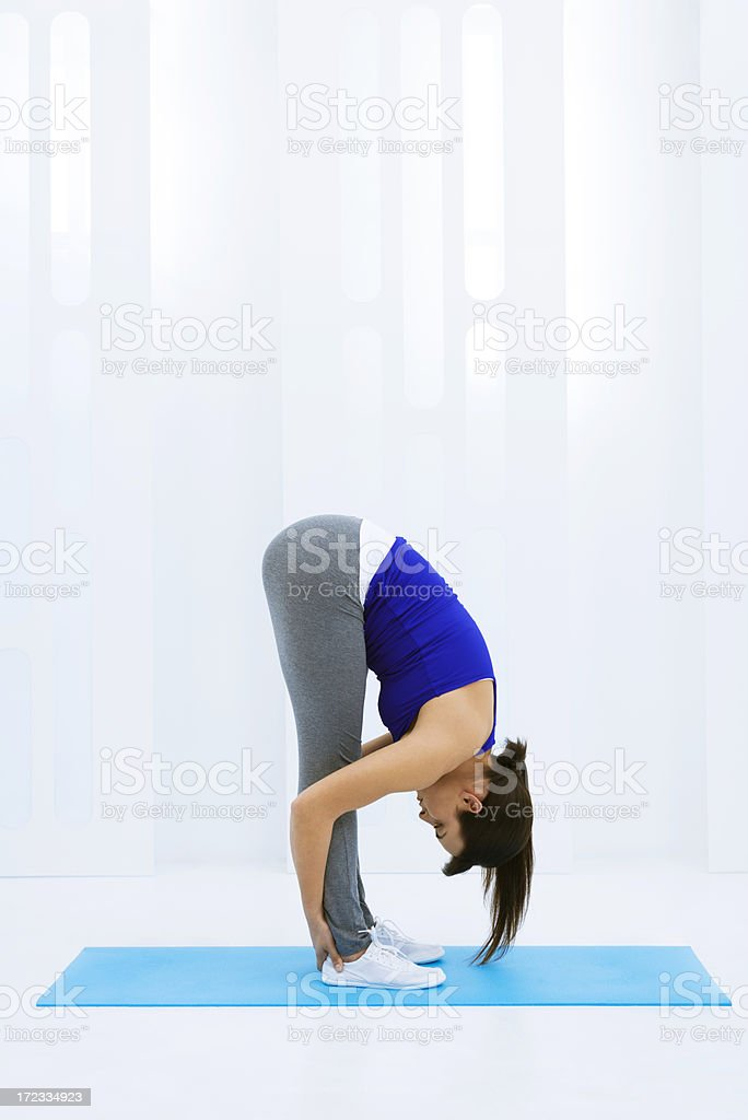 Healthy lifestyle: stretching exercises royalty-free stock photo