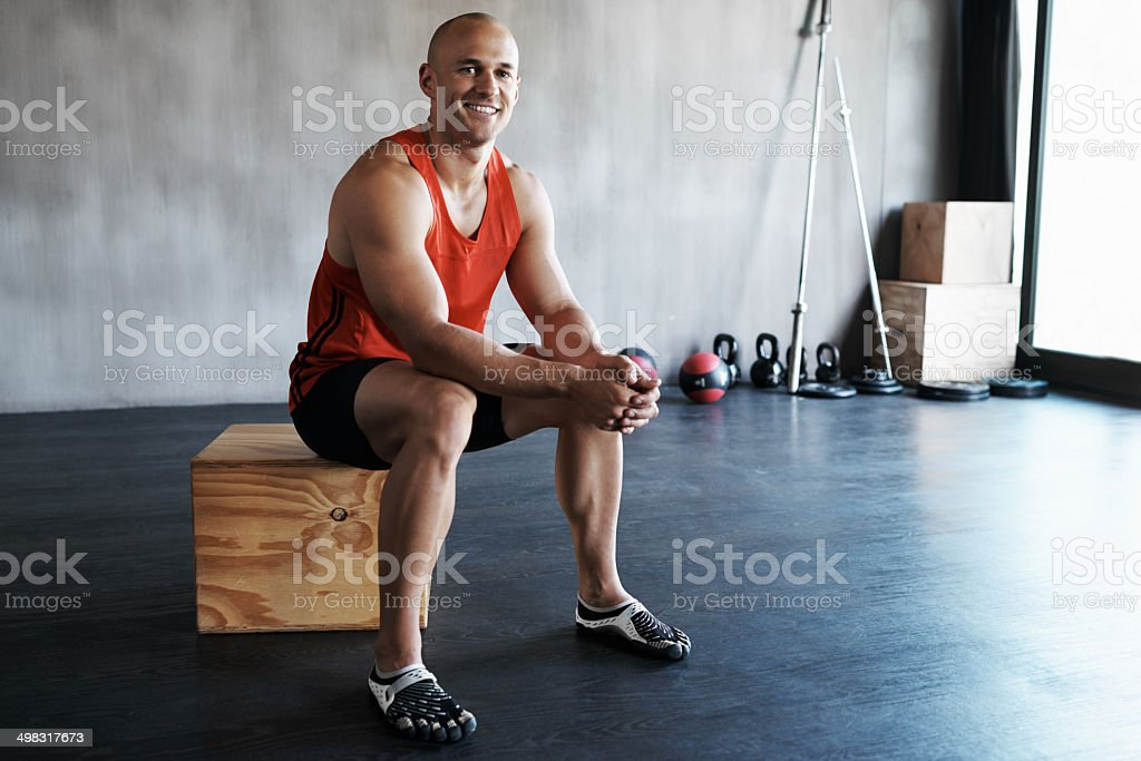Healthy living - exercising regularly royalty-free stock photo