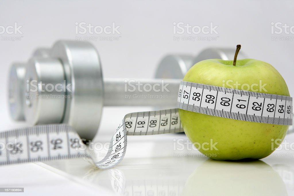Gesundes Leben-Ernährung & Fitnesstraining - Lizenzfrei Abnehmen Stock-Foto