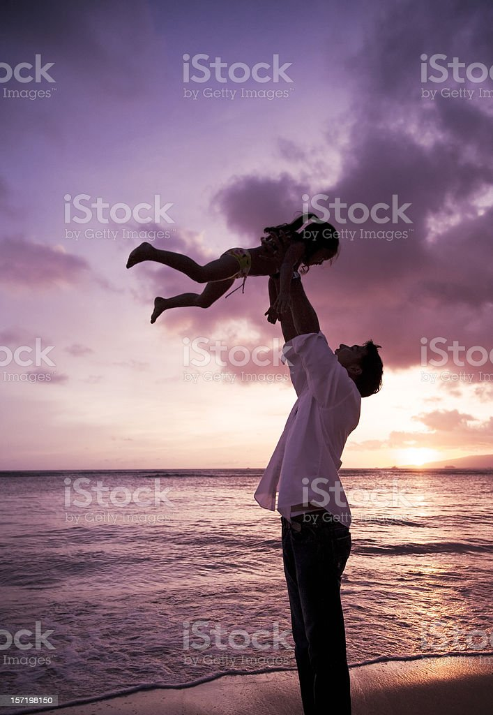 Healthy Loving Family: Father and Daughter royalty-free stock photo