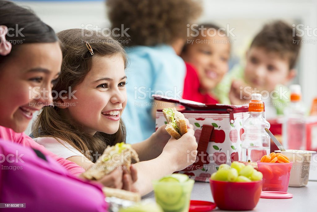 Healthy Lunch At School stock photo