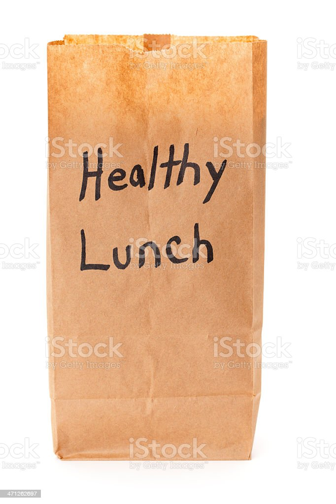 Healthy Lunch Bag royalty-free stock photo