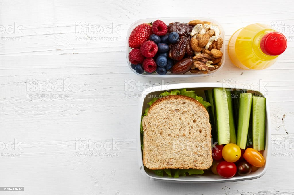 Healthy lunch box stock photo