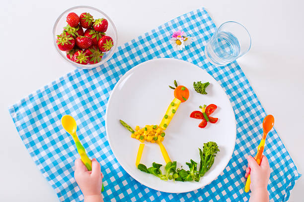 Healthy lunch for children stock photo