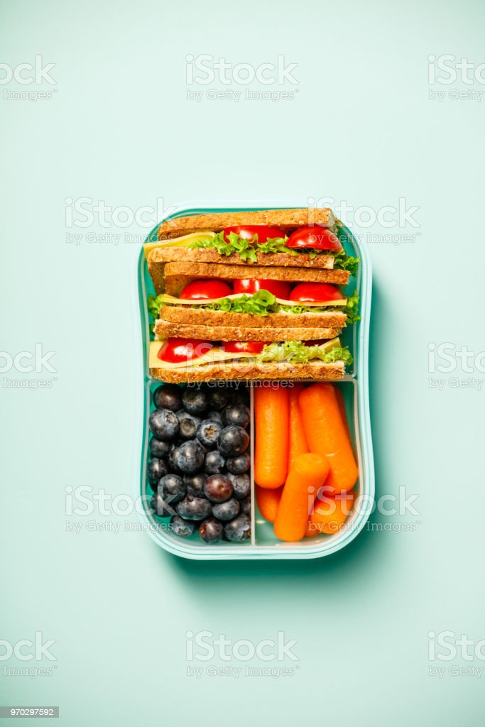Healthy lunch in container stock photo