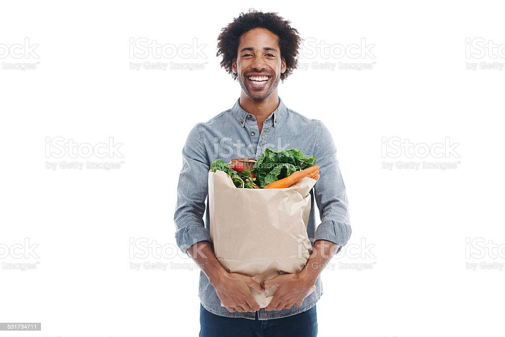 Healthy makes me happy stock photo
