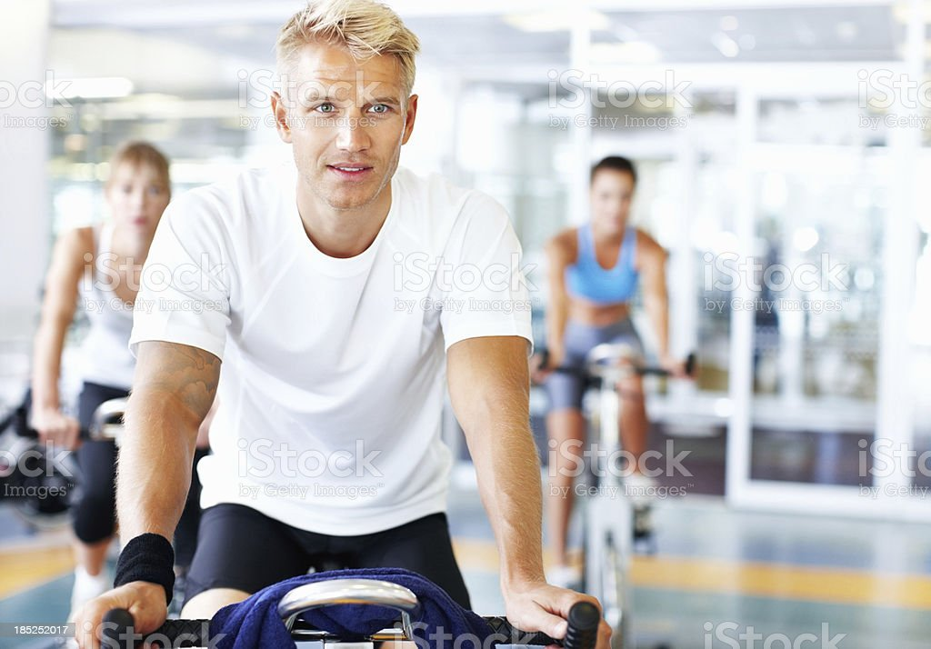 Healthy man working out royalty-free stock photo
