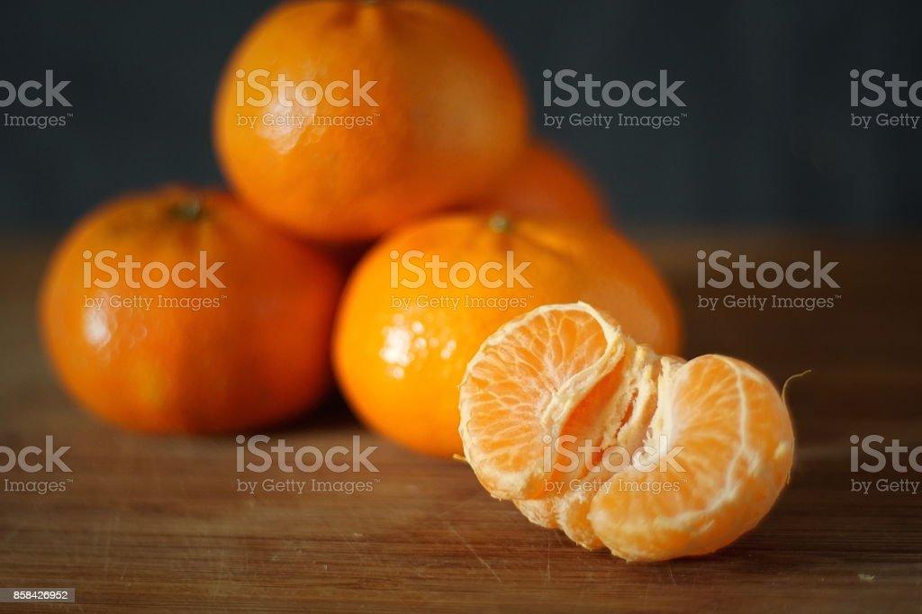 Healthy Mandarins stock photo