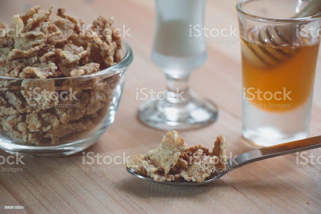 Gesunde Mahlzeit Müsli Joghurt Und Obst Leckeres Frühstück Und Snack